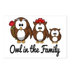 Owl in the Family Postcards (Package of 8)