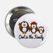 """Owl in the Family 2.25"""" Button (10 pack)"""