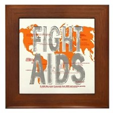 AIDS Awareness  Framed Tile