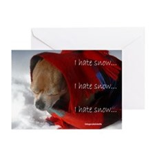 Timmy Doesn't Like Snow Greeting Cards (Package of