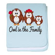 Owl in the Family baby blanket