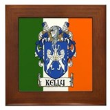 Kelly coat of arms Framed Tiles