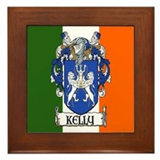 Kelly Arms Irish Flag Framed Tile