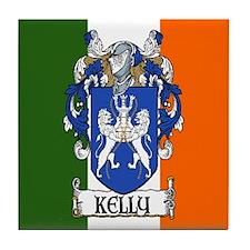 Kelly Arms Irish Flag Tile Coaster