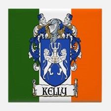 Kelly Arms Irish Flag Tile Coaster