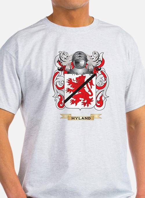 Hyland Coat of Arms (Family Crest) T-Shirt