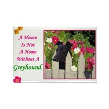 Greyhound (Black) Rectangle Magnet