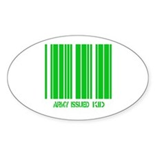 Army Issued Kid Oval Decal
