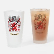 Hylands Coat of Arms (Family Crest) Drinking Glass
