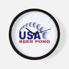 USA Beer Pong Wall Clock