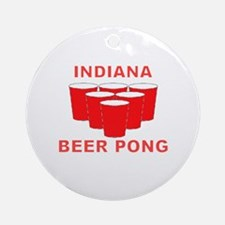 Indiana Beer Pong Ornament (Round)