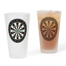Competition Dart Board Drinking Glass