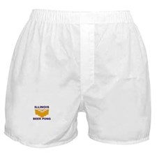 Illinois Beer Pong Boxer Shorts