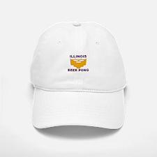 Illinois Beer Pong Baseball Baseball Cap