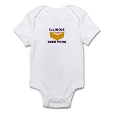 Illinois Beer Pong Infant Bodysuit