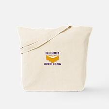 Illinois Beer Pong Tote Bag
