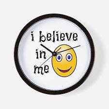 I Believe in Me Wall Clock
