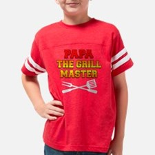 Papa The Grill Master Youth Football Shirt