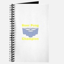 Beer Pong Champion Journal