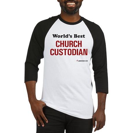 World's Best Church Custodian Baseball Jersey