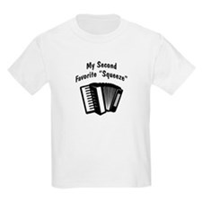 My 2nd Favorite Squeeze (b&w) Kids T-Shirt