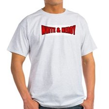 White & Nerdy Ash Grey T-Shirt