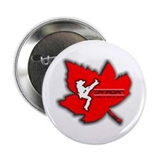 Canadian Girls Kick Ass Maple Button