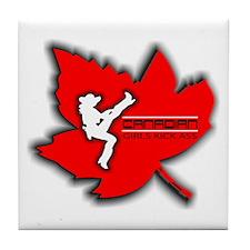 Canadian Girls Kick Ass Maple Tile Coaster