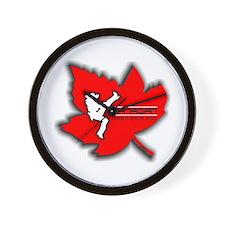 Canadian Girls Kick Ass Maple Wall Clock