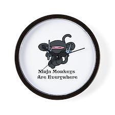 Ninja Monkey Sai Wall Clock