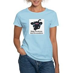 Ninja Monkey Sai Women's Pink T-Shirt
