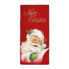 Santa Vintage Beach Towel