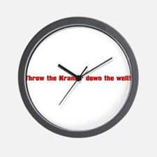 Throw Kramer From The Well! Wall Clock