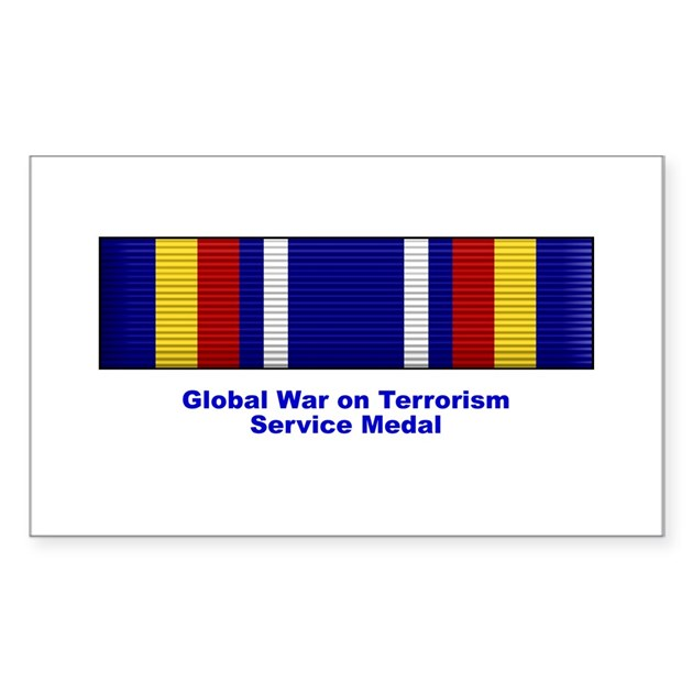 Global War On Terrorism Service Medal Decal By Thrutheovercast
