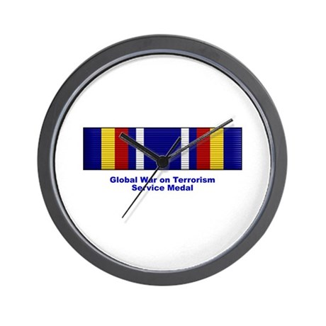 Global War on Terrorism Service Medal Wall Clock