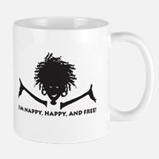Nappy, Happy and Free! Mug
