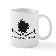 Nappy, Happy and Free! Mug