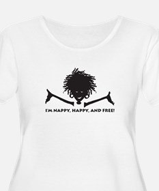 Nappy, Happy and Free! Plus Size T-Shirt