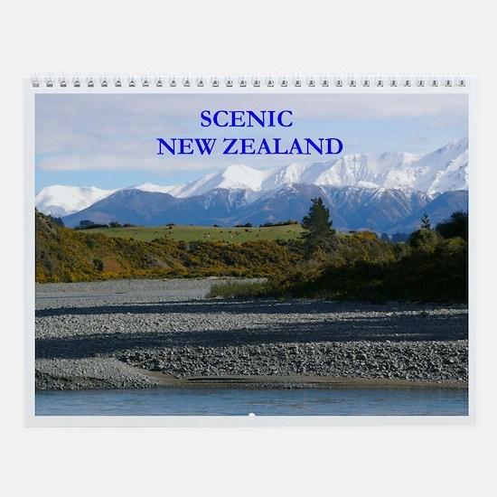 Scenic New Zealand wall calendar