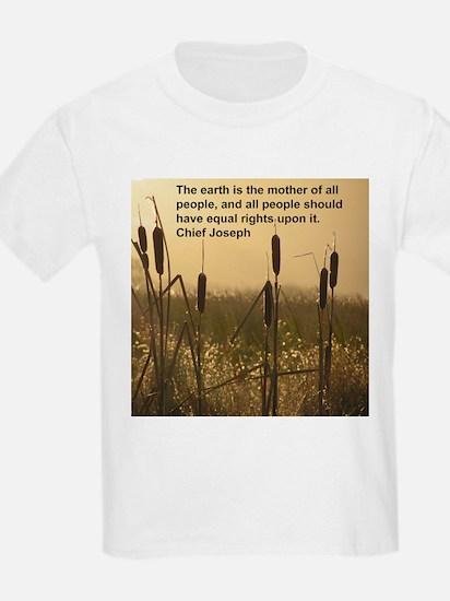 Chief Joseph Earth Quote Kids T-Shirt