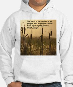 Chief Joseph Earth Quote Hoodie