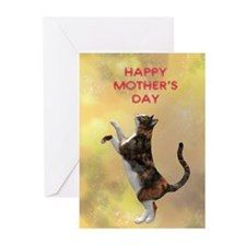 Mothers day card with a cat Greeting Cards (Pk of