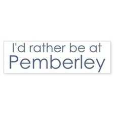 Pemberley Bumper Car Sticker