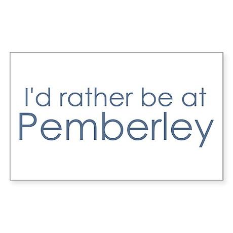 Pemberley Rectangle Sticker