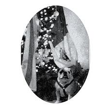 Bulldog w/Mexican Flag & Christmas Tree  Ornament
