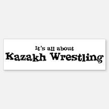 All about Kazakh Wrestling Bumper Bumper Bumper Sticker