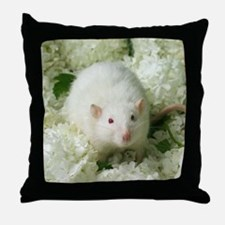Knightley White Flowers Throw Pillow