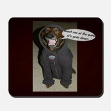 Dog in the Hoody Mousepad