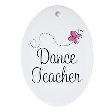 Dance Teacher Ornament (Oval)