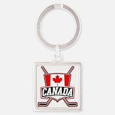 Canadian Hockey Shield Logo Keychains